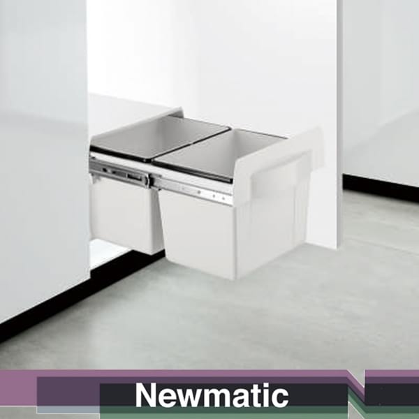 Newmatic Built In Garbage Bin For Kitchen Cabinet