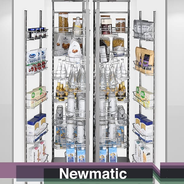Newmatic Giant Tandem Pull Out Pantry For Kitchen Cabinet
