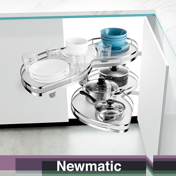 Newmatic Corner Kidney Tray For Kitchen Cabinet