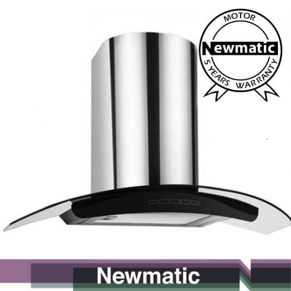 Newmatic H76.9 Kitchen Chimney Hood, Appliance For Built In Kitchen Cabinet