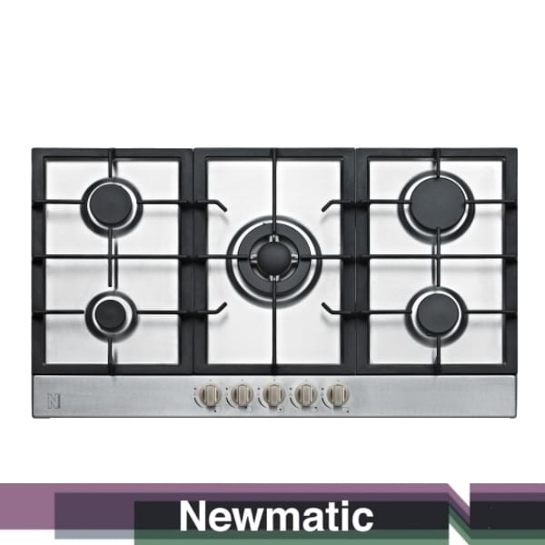 Newmatic PM950STX Built In Gas Hob, Appliance For Built In Kitchen Cabinet