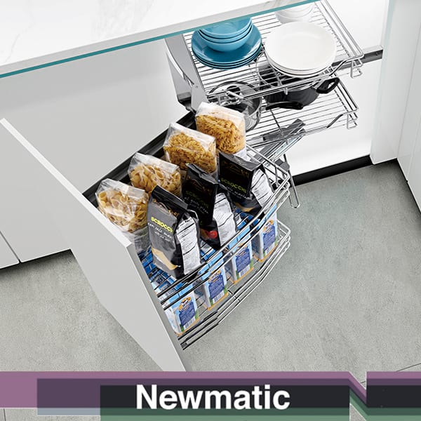 Newmatic Magic Corner Pantry For Kitchen Cabinet