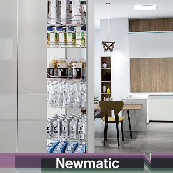 Newmatic 30cm Pull Out Pantry For Kitchen Cabinet